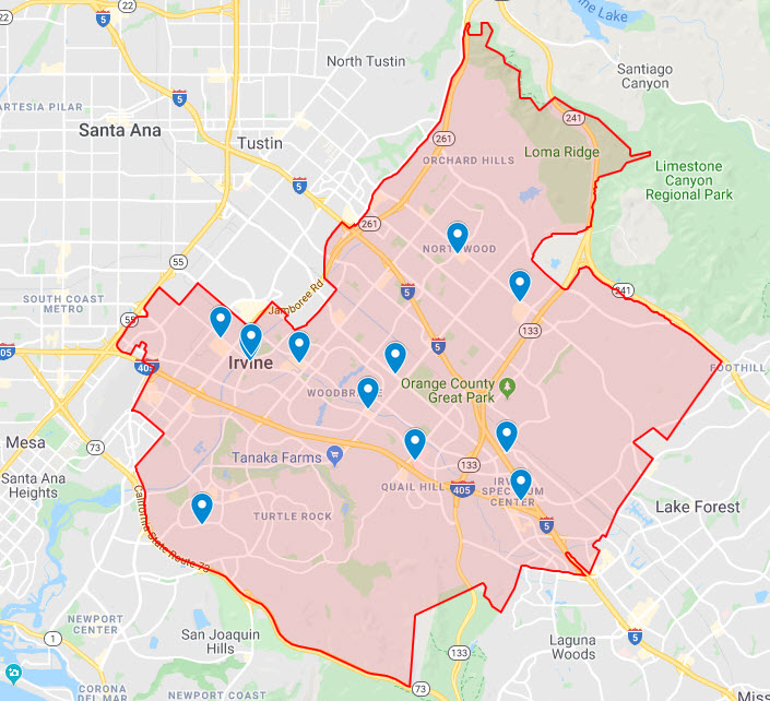 Access Database Programmer Irvine CA Map | Access ...